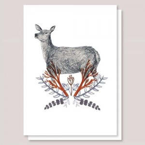 Kartka Winter Deer - Lizzy Stewart