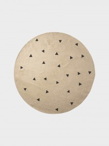 Dywan jutowy Black Triangles 130 cm  - FERM LIVING