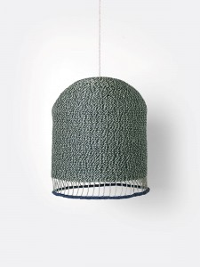 Klosz Braided Lampshade - Dusty Green - FERM LIVING