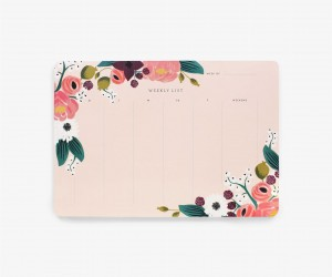 Tygodniowy planer - Pink floral - Rifle Paper Co.