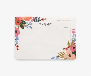 Tygodniowy planer - Lively floral - Rifle Paper Co.