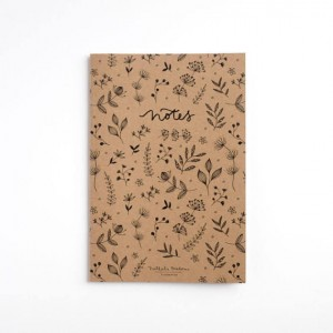 Notes A5 w linie - Botanical  - naturalny - Nathalie Ouederni