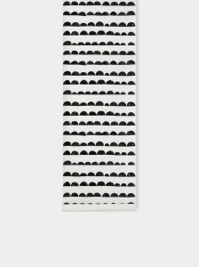Tapeta Half Moon Black - FERM LIVING