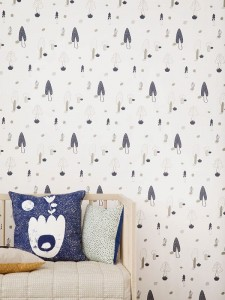 Tapeta Forest Blue  -  FERM LIVING