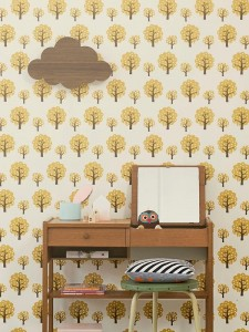 Tapeta Dotty Yellow - FERM LIVING