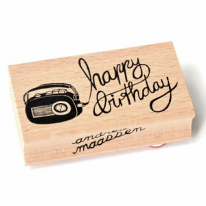 Stempel Happy birthday radio