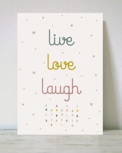 Plakat A3 - Live Love Laugh - HACIENDO EL INDIO