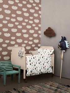 Tapeta Cloud  Rose - Ingela P Arrhenius -  FERM LIVING