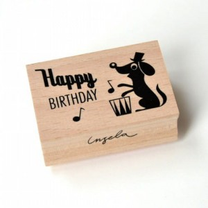 Stempel Happy birthday dog