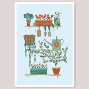 Plakat A3 - Garden Shelves - Holly Maguire